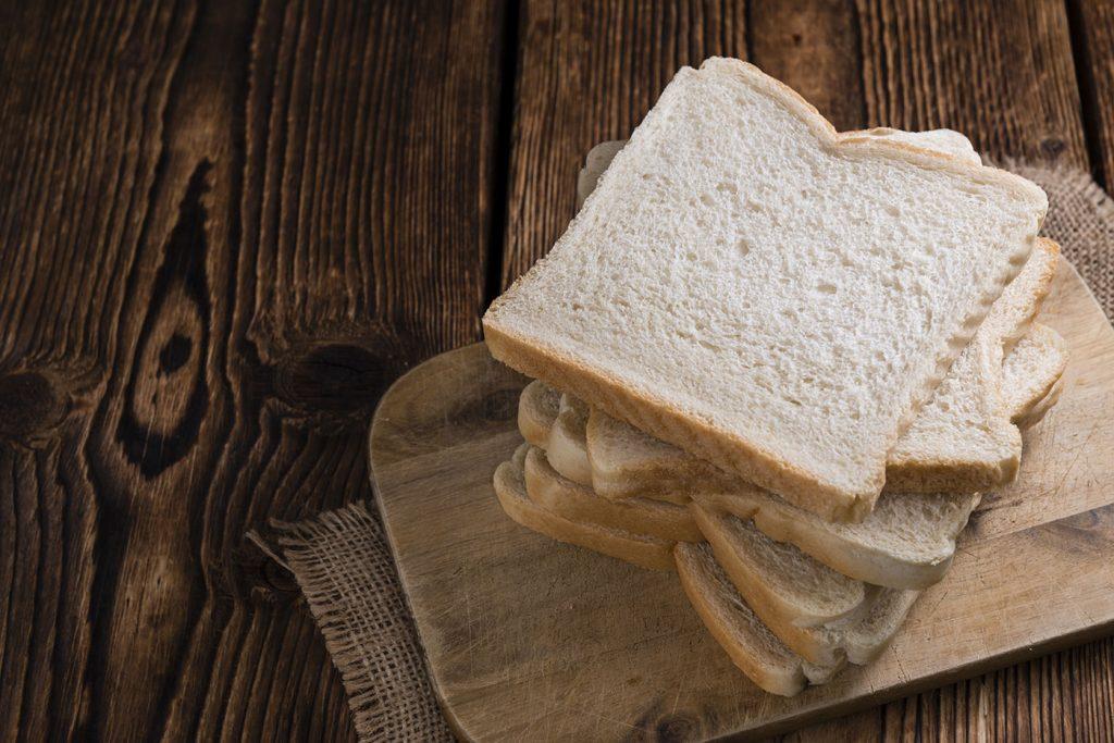 Valores nutricionales de pan blanco
