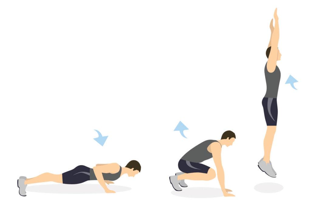 como secar el cuerpo ejercicios burpee