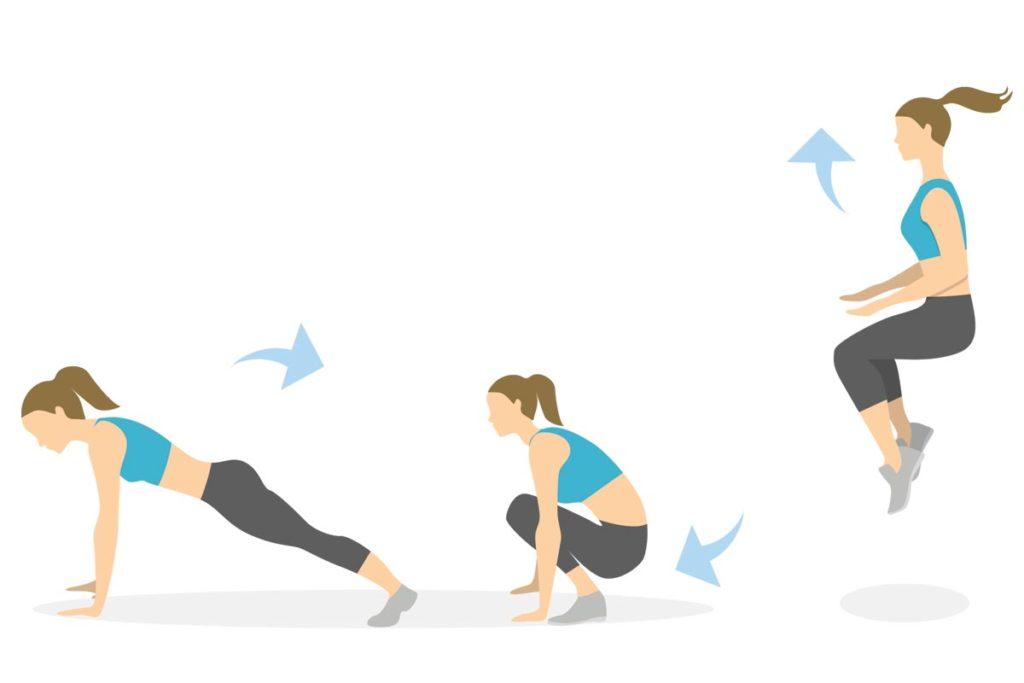 burpees con salto tabata ejercicios principiantes