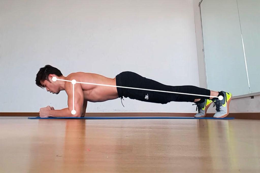 planchas abdominales principiantes