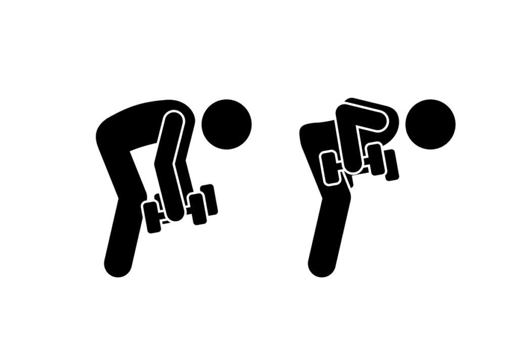 ejercicios de espalda con mancuernas