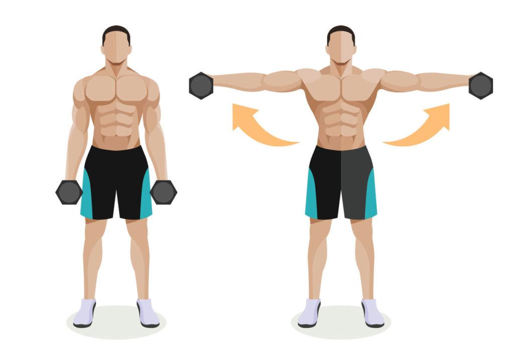 ejercicios con barra para hombros