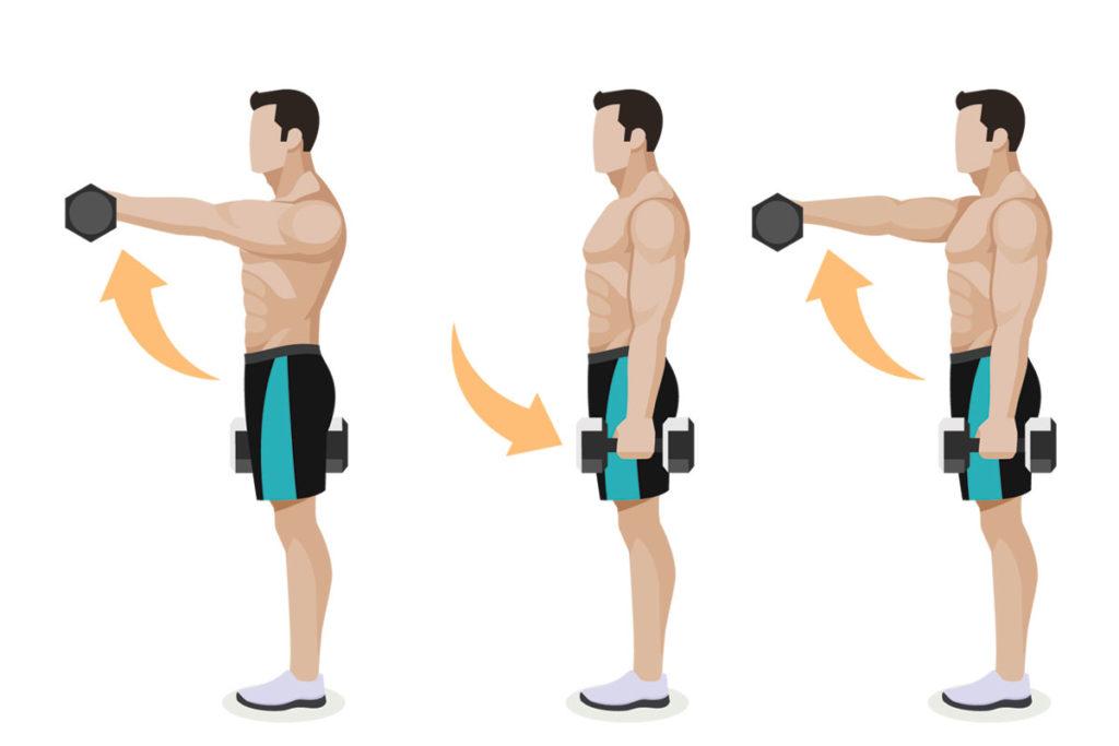 hombros ejercicios