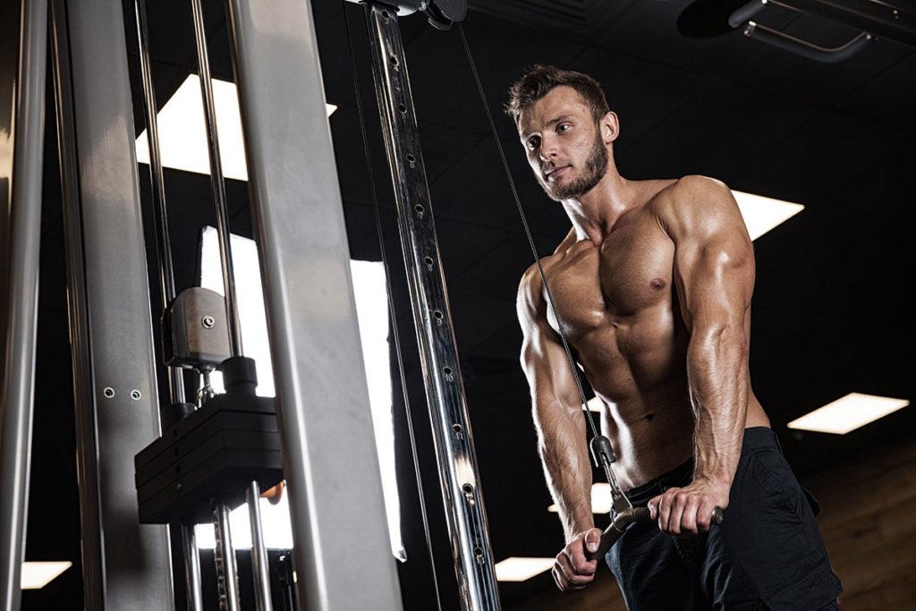 ejercicios para trabajar triceps volumen