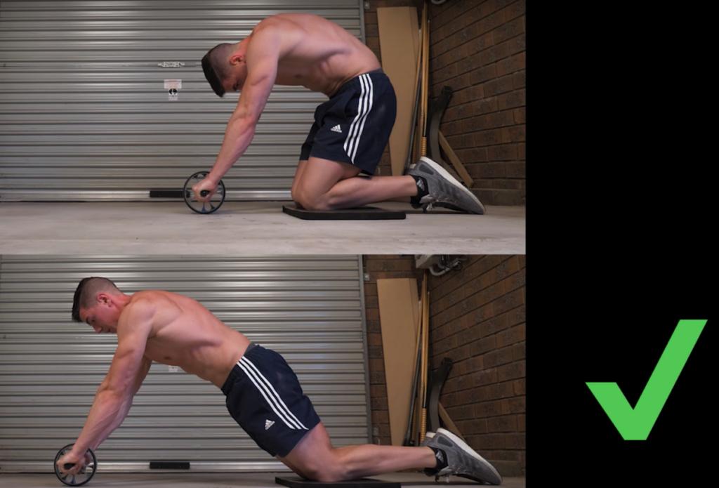 rueda abdominal ejercicios tecnica