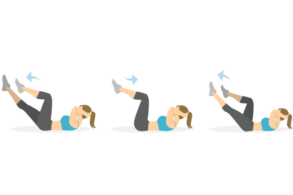 abdominales bicicleta tecnica mejores ejercicios abdomen