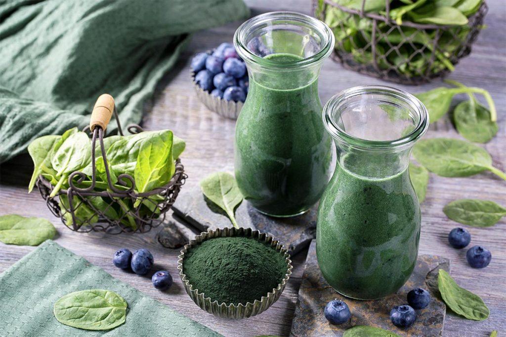 batidos detox veganos verdes