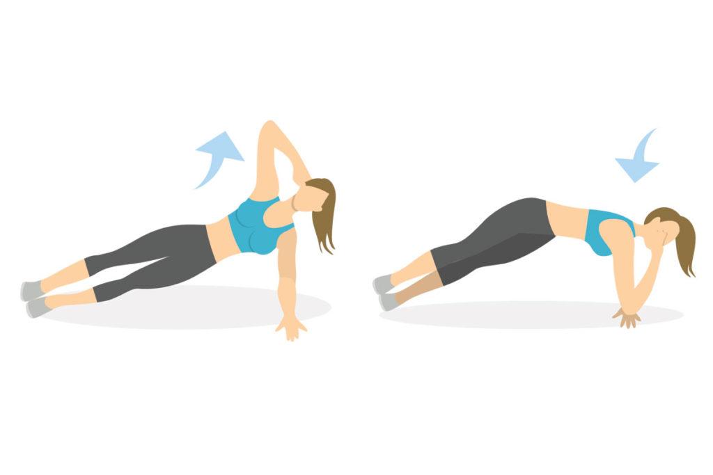 planchas abdominales laterales ejercicios