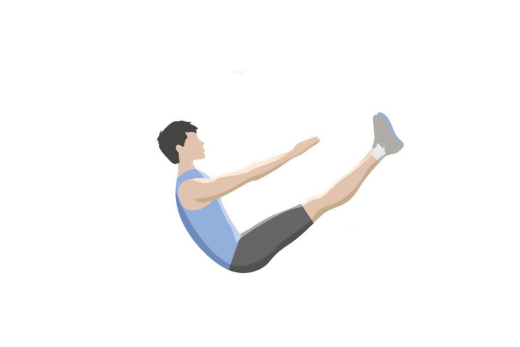 abdominales entrenamiento estático