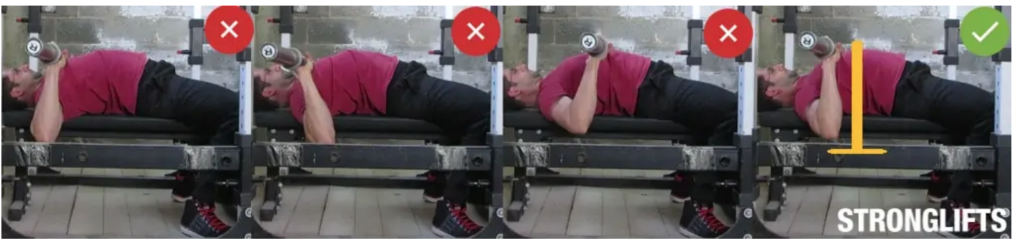 como hacer press de pecho con barra