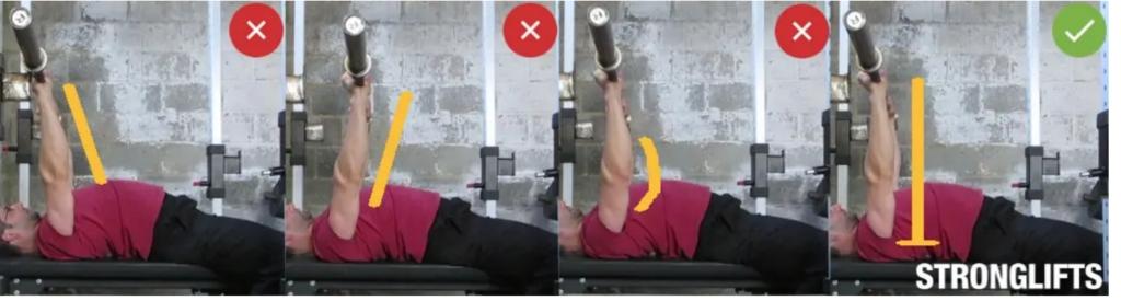como hacer press de pecho plano