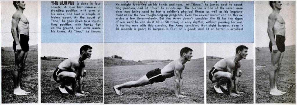 historia del ejercicio burpee