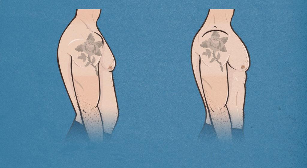 ectomorfo con panza postura