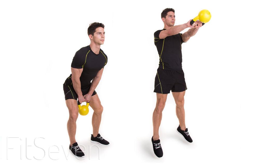 ejercicios con pesas rusas swing
