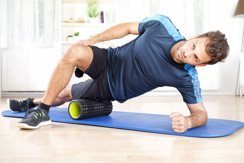 recuperacion muscular foam roller