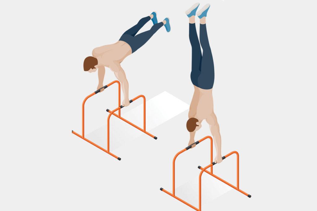 como usar las barras al aire libre para espalda