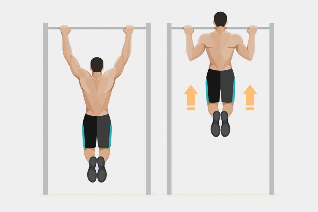entrenamiento de espalda al aire libre