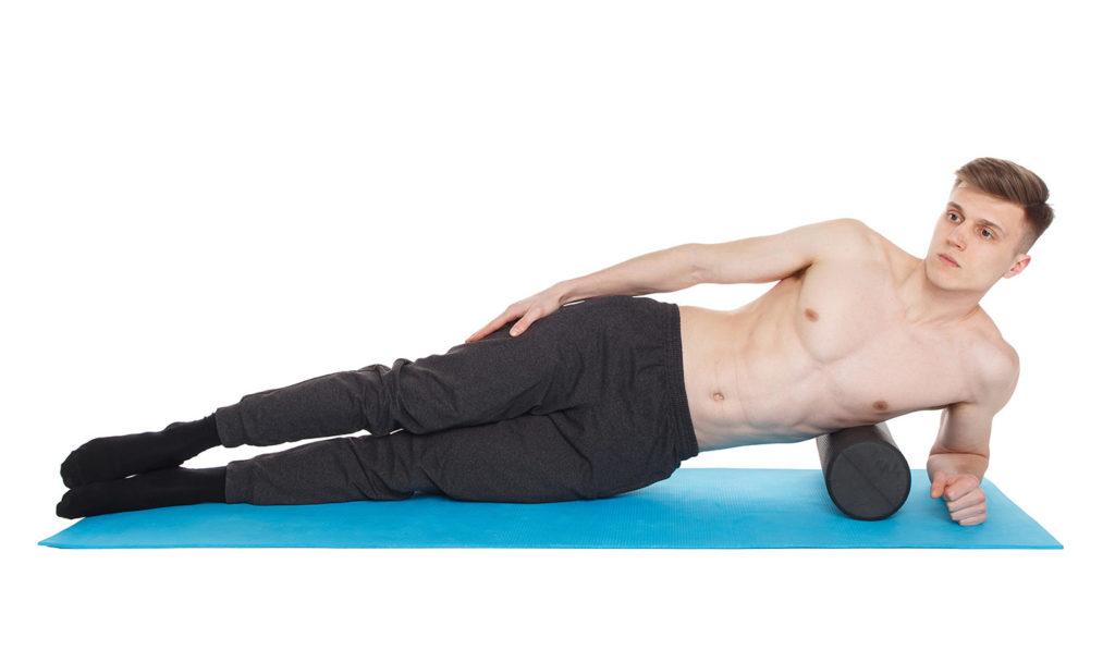 ejercicios con foam roller abdomen