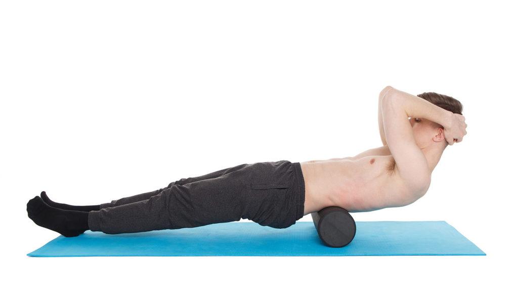 ejercicios con foam roller espalda