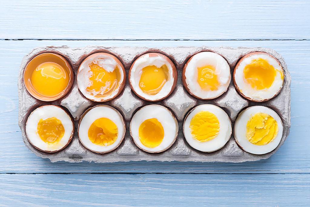 tiempos para hacer huevos duros